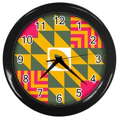 Shapes in a mirror Wall Clock (Black)