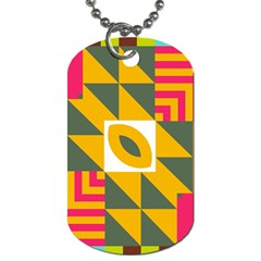 Shapes in a mirror Dog Tag (Two Sides)