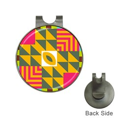 Shapes in a mirror Golf Ball Marker Hat Clip