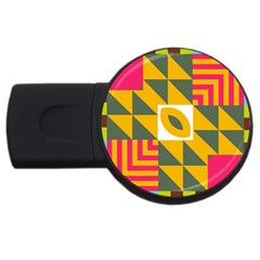 Shapes in a mirror USB Flash Drive Round (4 GB)