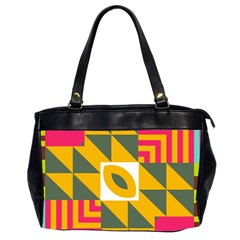 Shapes in a mirror Oversize Office Handbag (2 Sides)