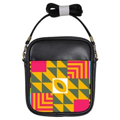 Shapes in a mirror Girls Sling Bag
