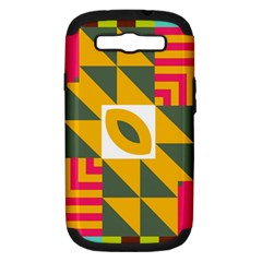 Shapes in a mirror Samsung Galaxy S III Hardshell Case (PC+Silicone)