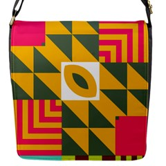 Shapes in a mirror Flap Closure Messenger Bag (S)