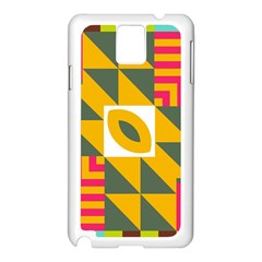 Shapes in a mirror Samsung Galaxy Note 3 N9005 Case (White)