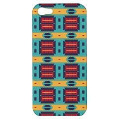 Blue red and yellow shapes pattern Apple iPhone 5 Hardshell Case