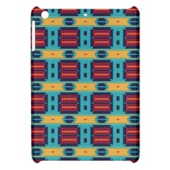 Blue red and yellow shapes pattern Apple iPad Mini Hardshell Case