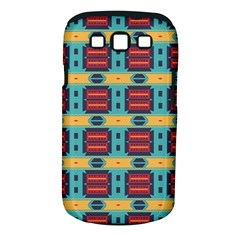 Blue red and yellow shapes pattern Samsung Galaxy S III Classic Hardshell Case (PC+Silicone)