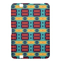Blue red and yellow shapes pattern Kindle Fire HD 8.9  Hardshell Case