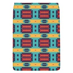 Blue red and yellow shapes pattern Removable Flap Cover (S)