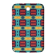 Blue red and yellow shapes pattern Samsung Galaxy Note 8.0 N5100 Hardshell Case