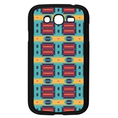Blue red and yellow shapes pattern Samsung Galaxy Grand DUOS I9082 Case (Black)