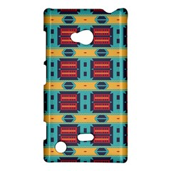 Blue red and yellow shapes pattern Nokia Lumia 720 Hardshell Case