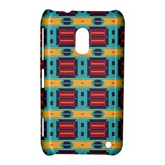 Blue red and yellow shapes pattern Nokia Lumia 620 Hardshell Case
