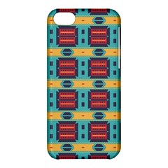 Blue red and yellow shapes pattern Apple iPhone 5C Hardshell Case