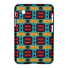 Blue Red And Yellow Shapes Pattern Samsung Galaxy Tab 2 (7 ) P3100 Hardshell Case
