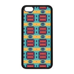 Blue red and yellow shapes pattern Apple iPhone 5C Seamless Case (Black)