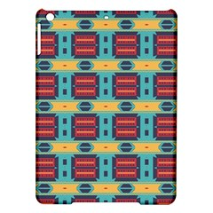 Blue red and yellow shapes pattern Apple iPad Air Hardshell Case
