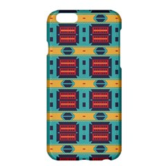 Blue red and yellow shapes pattern	Apple iPhone 6 Plus Hardshell Case