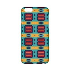 Blue red and yellow shapes pattern Apple iPhone 6 Hardshell Case