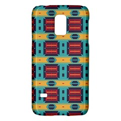 Blue red and yellow shapes patternSamsung Galaxy S5 Mini Hardshell Case