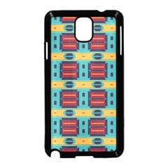 Blue red and yellow shapes pattern Samsung Galaxy Note 3 Neo Hardshell Case