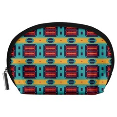 Blue red and yellow shapes pattern Accessory Pouch