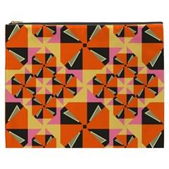 Windmill in rhombus shapes Cosmetic Bag (XXXL)
