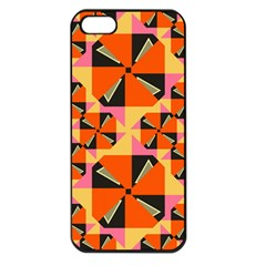 Windmill in rhombus shapes Apple iPhone 5 Seamless Case (Black)