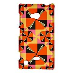 Windmill in rhombus shapes Nokia Lumia 720 Hardshell Case