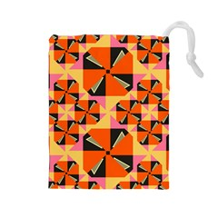 Windmill in rhombus shapes Drawstring Pouch