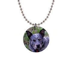 Australian Cattle Dog Blue Button Necklaces