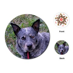 Australian Cattle Dog Blue Playing Cards (Round)