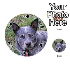 Australian Cattle Dog Blue Playing Cards 54 (Round)