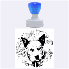 Australian Cattle Dog Blue Rubber Round Stamps (Large)