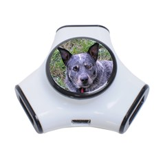 Australian Cattle Dog Blue 3-Port USB Hub