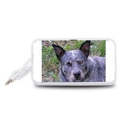 Australian Cattle Dog Blue Portable Speaker (White)