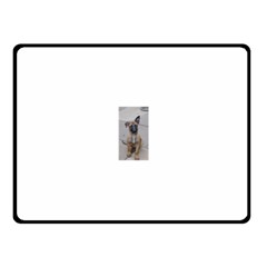 Malinois Puppy Sitting Fleece Blanket (Small)