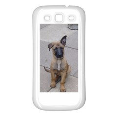 Malinois Puppy Sitting Samsung Galaxy S3 Back Case (White)