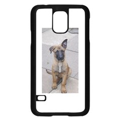 Malinois Puppy Sitting Samsung Galaxy S5 Case (Black)
