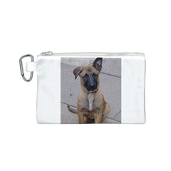 Malinois Puppy Sitting Canvas Cosmetic Bag (S)