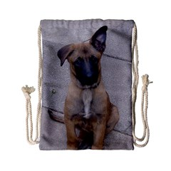 Malinois Puppy Sitting Drawstring Bag (Small)