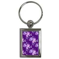 Vintage Roses Purple Key Chains (Rectangle)