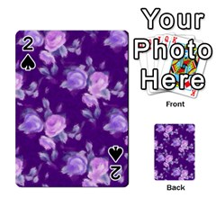 Vintage Roses Purple Playing Cards 54 Designs