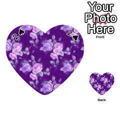 Vintage Roses Purple Playing Cards 54 (Heart)