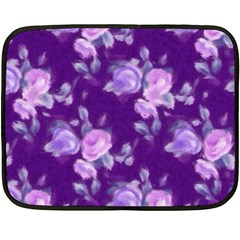 Vintage Roses Purple Fleece Blanket (mini)