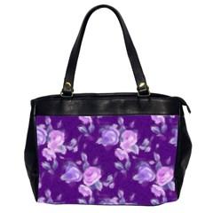 Vintage Roses Purple Office Handbags (2 Sides)