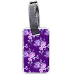Vintage Roses Purple Luggage Tags (One Side)