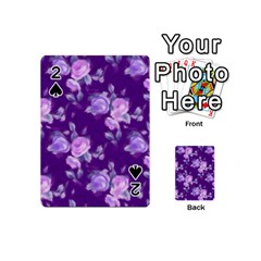 Vintage Roses Purple Playing Cards 54 (Mini)