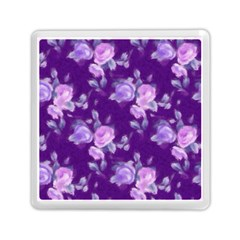 Vintage Roses Purple Memory Card Reader (Square)
